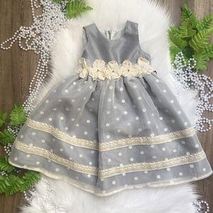 Isobell & Chloe Girls Grey Dress